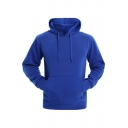 New Stylish Drawstring Hood Long Sleeve Simple Plain Hoodie