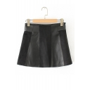 New Stylish Patchwork Simple Plain Mini Skirt