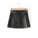 New Stylish Patchwork Simple Plain Mini Skirt