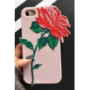 3D Rose Floral Pattern Silicone iPhone Case