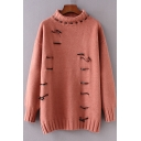 New Stylish Turtleneck Long Sleeve Pullover Sweater