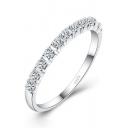 Simple Design Unisex Silver Beaded Blinking Ring