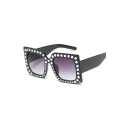 New Fashion Leisure Diamond Frame Sunglasses