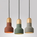 Industrial Pendant Light with 5''W Cement Shade in Nordic Style