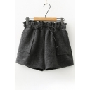 New Stylish Drawstring Elastic Waist Shorts