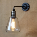 Industrial Wall Sconce with 6.1''W Cone Glass Shade