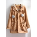 New Fashion Embroidered Zippered Long Sleeve Hooded Coat