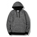 New Stylish Print Drawstring Hood Long Sleeve Leisure Unisex Hoodie