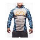 Fashion Color Block Letter Print Long Sleeve Unisex Sport Hoodie
