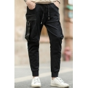 New Fashion Drawstring Crop Pants with Large Pockets