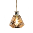 Industrial Pendant Light with 7.09''W Diamond Shape Shade