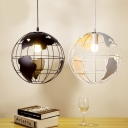 Industrial Orb Single Pendant Light 7.87