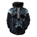 New Fashion Skull Print Long Sleeve Hoodie