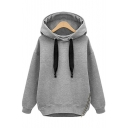 New Fashion Leisure Simple Zip Plain Long Sleeve Hoodie