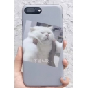 Cute White Kitty Cat Printed iPhone Case