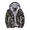 New Stylish Camouflage Long Sleeve Zipper Unisex Hooded Coat