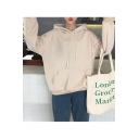 New Fashion Letter Print Back Long Sleeve Hoodie