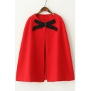 New Stylish Bow Detail Round Neck Loose Poncho