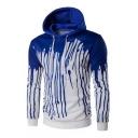 Stylish Splash-Ink Contrast Long Sleeves Pullover Hoodie