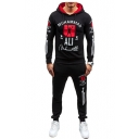 Fashion letter Print Hoodie Leisure Unisex Sport Co-ords with Pants