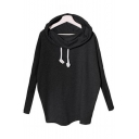 New Stylish Turtleneck Long Sleeve Simple Plain Pullover Sweatshirt