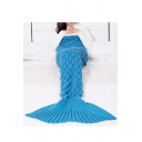 New Collection Mermaid's Tail Shape Simple Plain Blanket