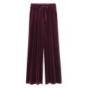 New Stylish Elastic Waist Simple Plain Loose Pants
