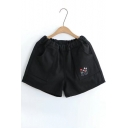 New Stylish Floral Pattern Elastic Waist Pocket Shorts