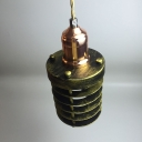 Industrial Ceiling Pendant Light with 3.94''W Cylinder Metal Cage, Aged Bronze