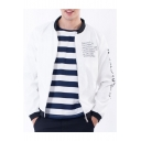New Stylish Letter Print Long Sleeve Stand-Up Collar Sport Jacket