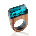 Unique Unisex Seasonal Forest Resin Wooden Ring