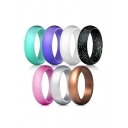 Colorful Sequined Simple Blinking Seven Rings Set