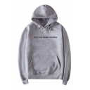 New Fashion Leisure Letter Print Long Sleeve Hoodie
