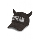 New Letter Embroidered Peaked Cap with Demon Horn