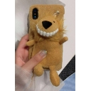 Adorable 3D Lion Donkey Pig Dog Detail Furry iPhone Case