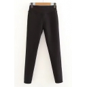New Stylish Elastic Waist Simple Plain Skinny Pants