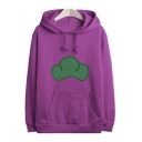 Fashionable Casual Cartoon Print Long Sleeve Loose Hoodie