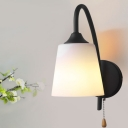 Industrial Wall Sconce in Modern Style with Drum Shape Shade