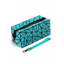New Fashion Diamond Pattern Zippered Makeup Bag