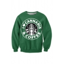 New Fashion Leisure Letter Print Round Neck Long Sleeve Pullover Sweatshirt