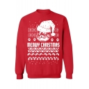 Fashion Christmas Theme Print Long Sleeve Pullover Sweatshirt