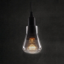 Industrial Mini Pendant Light with Smoke Glass Shade
