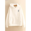 New Fashion Cartoon Rabbit Embroidered Long Sleeve Hoodie
