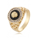Bling-Bling Alloy Lion Patterned Hand Sanding Ring