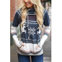 Simple Leisure Graphic Print Long Sleeve Hooide