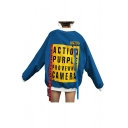 New Fashion Color Block Letter Print Stand-Up Collar Long Sleeve Baseball Coat