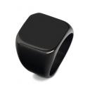New Trendy Retro Simple Plain Stainless Steel Ring