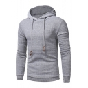 New Stylish Drawstring Hood Long Sleeve Leisure Unisex Hoodie