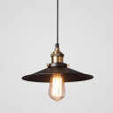 Industrial Pendant Light with 10.24''W Saucer Shape Shade