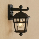 Industrial Wall Sconce in Traditional Style with Glass Shade